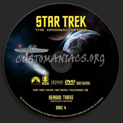 Star Trek - The Original Series Season Three  Remastered dvd label