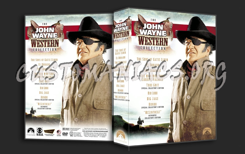 The John Wayne Western Collection dvd cover