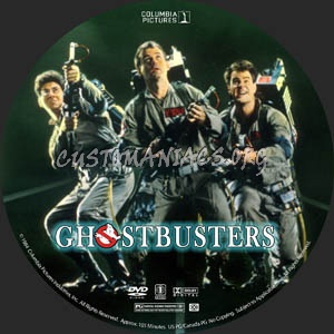 Ghostbusters dvd label