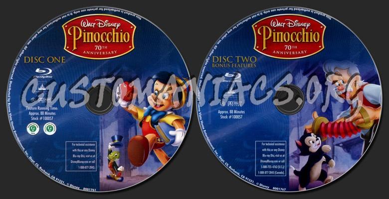 Pinocchio blu-ray label