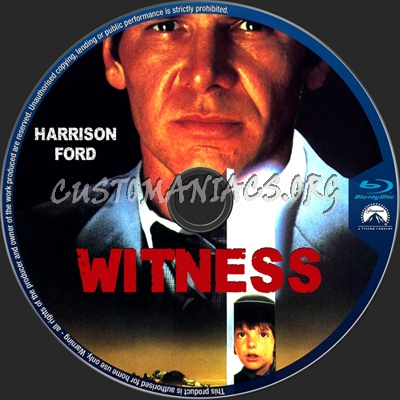 Witness blu-ray label