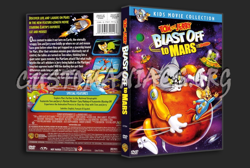 Tom & Jerry Blast Off to Mars dvd cover