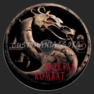Mortal kombat dvd label