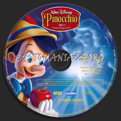 Pinocchio 70th Anniversary Edition dvd label - DVD Covers ...  Pinocchio 70th Anniversary Edition Dvd