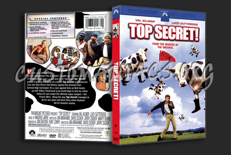 Top Secret! dvd cover