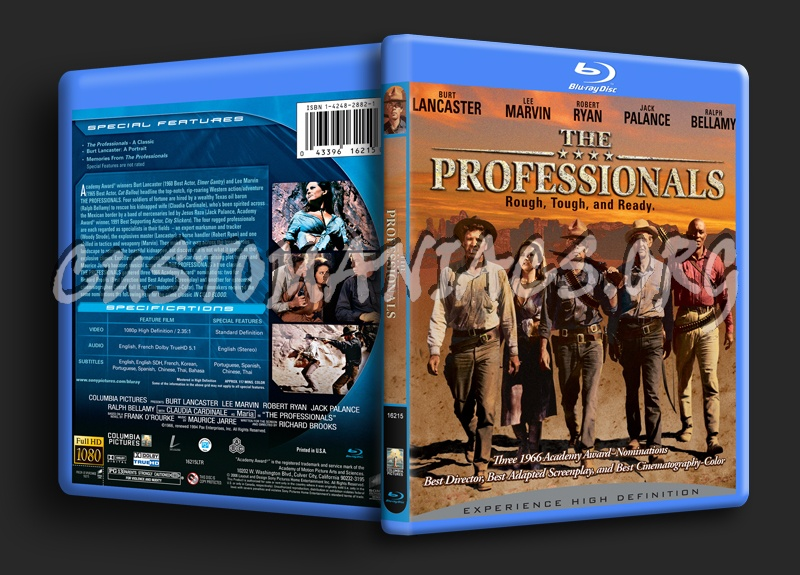 The Professionals blu-ray cover