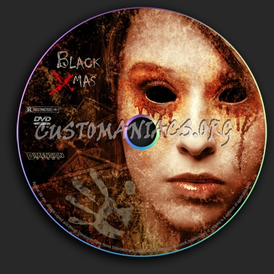 Black Xmas dvd label