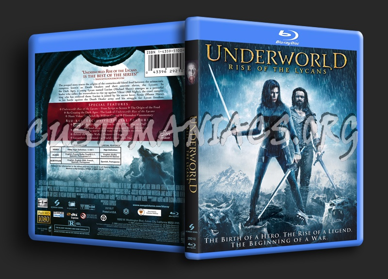 Underworld Rise of the Lycans blu-ray cover
