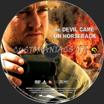 The Devil Came on Horseback dvd label