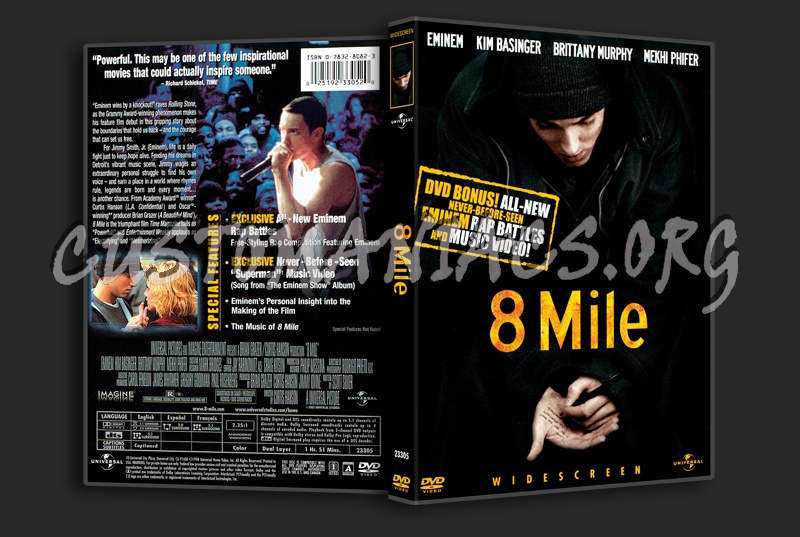 Mile Dvd 8 Mile Dvd Cover