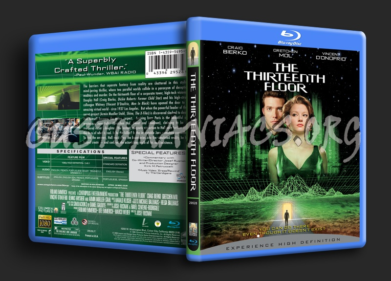 The thirteenth floor blu ray cover dvd covers labels for 13th floor dvd
