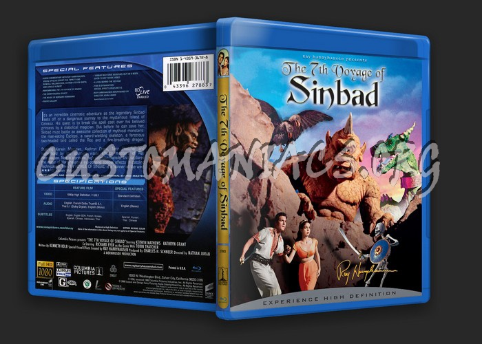 The 7th Voyage of Sinbad blu-ray cover
