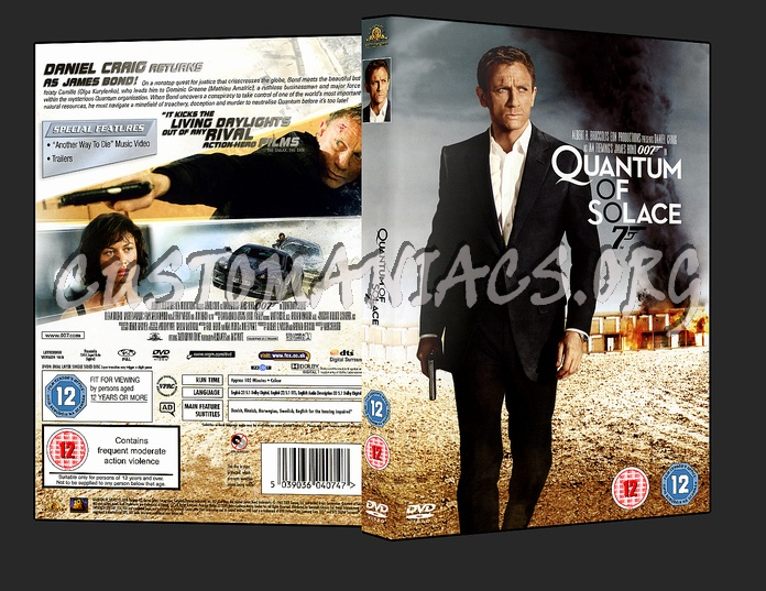 Quantum of Solace dvd cover - DVD Covers & Labels by ...