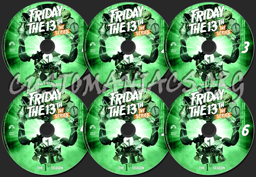 Friday the 13th Season 1 dvd label