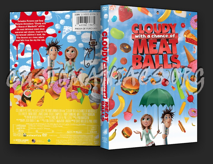 Cloudy with a Chance of Meatballs dvd cover
