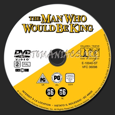 Man Who Would Be King, The dvd label