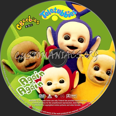 Teletubbies Again Again dvd label