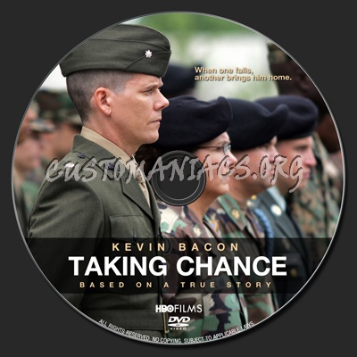 Taking Chance dvd label