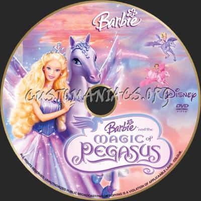 Barbie Magic Of Pegasus dvd label