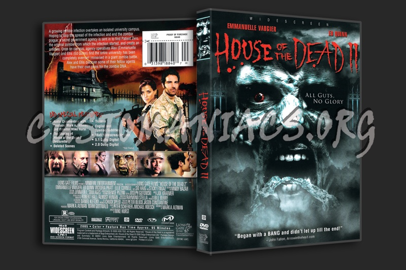 House of the Dead 2 dvd cover