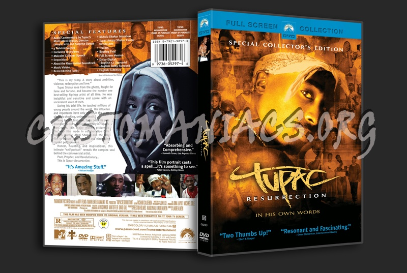 tupac resurrection dvd cover dvd covers amp labels by