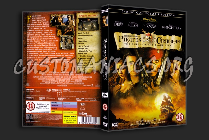 Pirates of the Caribbean the Curse of the Black Pearl dvd cover