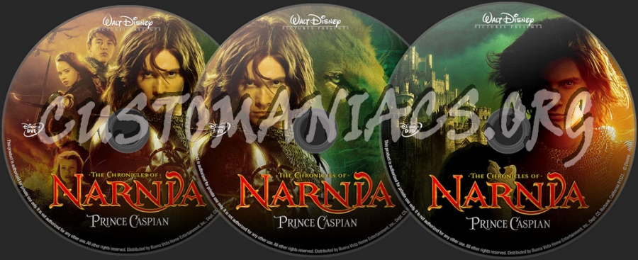 The Chronicles of Narnia - Prince Caspian dvd label