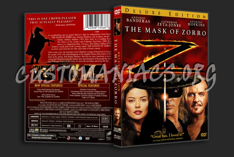 The Mask of Zorro dvd cover