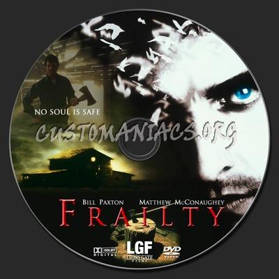 Frailty dvd label