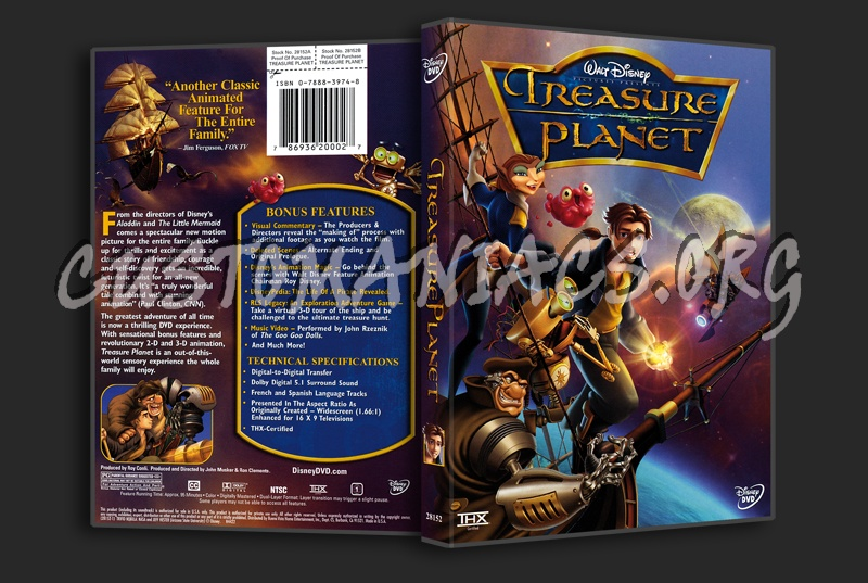 Treasure Planet dvd cover