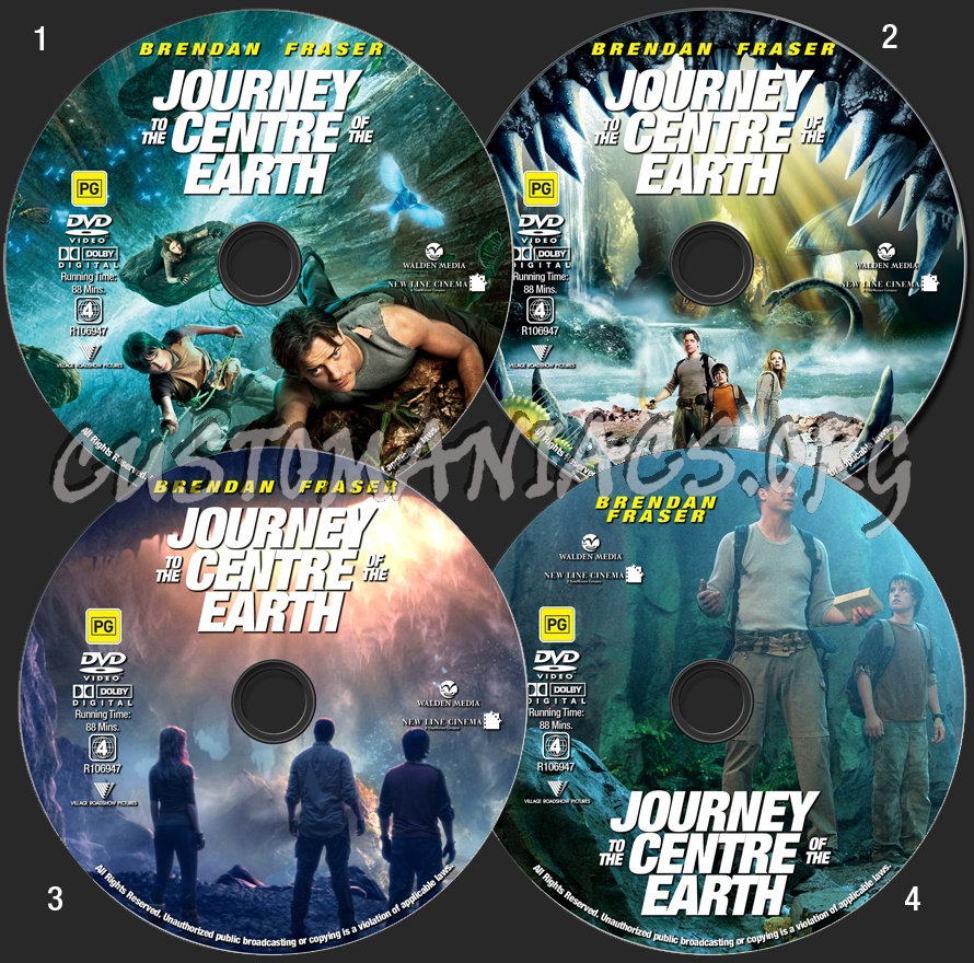 Journey To The Centre Of The Earth dvd label