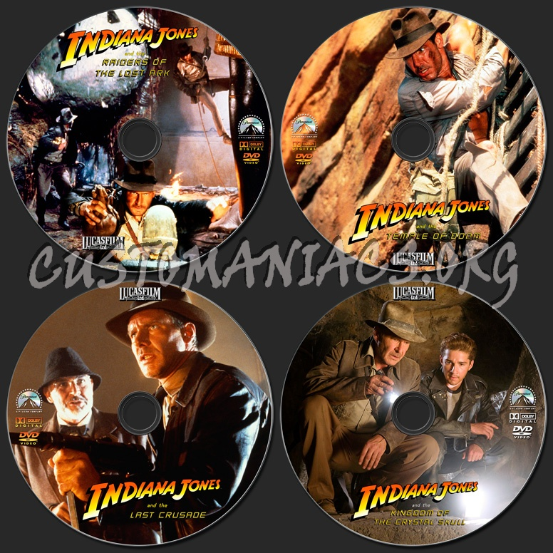 Indiana Jones Collection dvd label