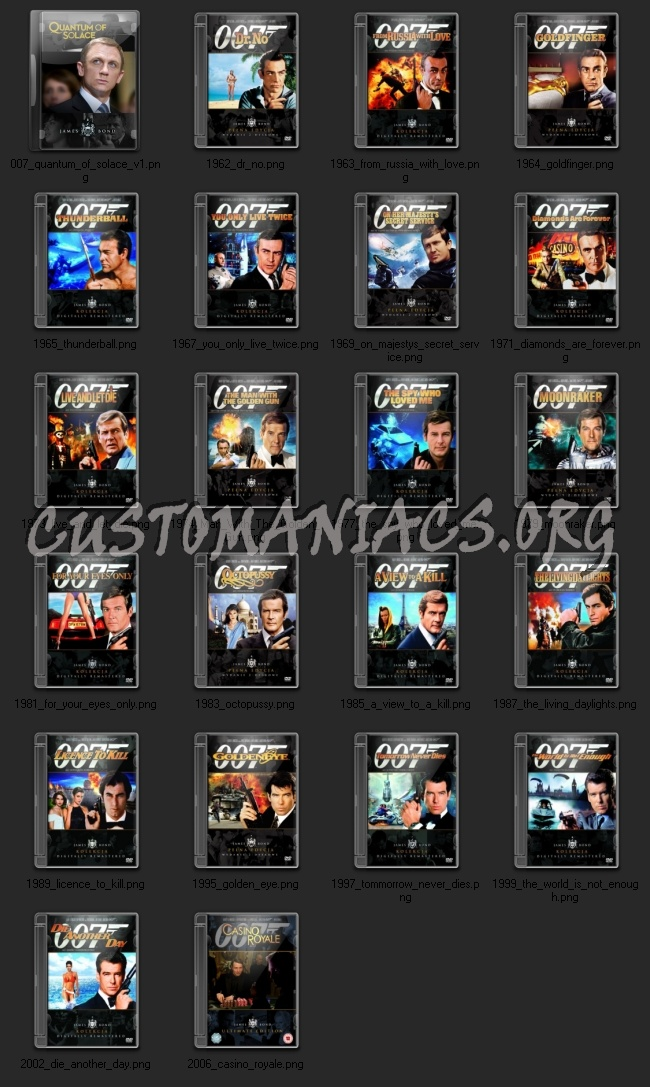007 Bond collection icons