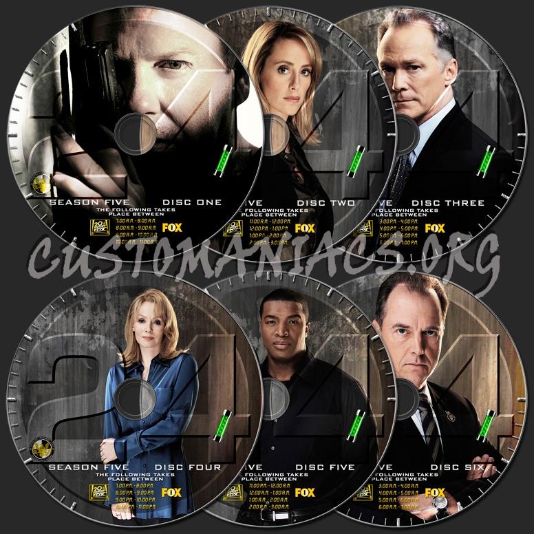 24 Season 5 dvd label
