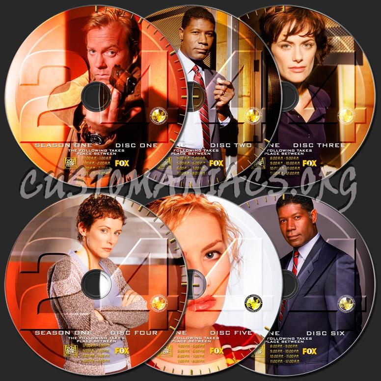 24 Season 1 dvd label