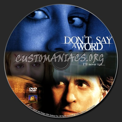 Don't Say A Word dvd label