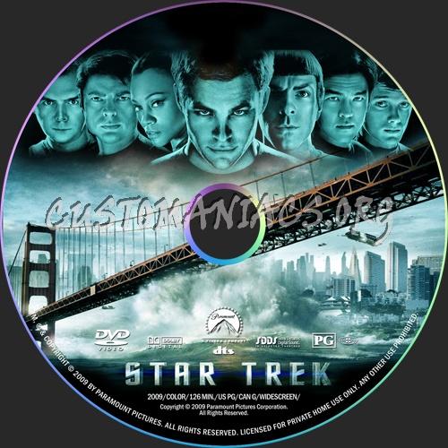 Star Trek (2009) dvd label