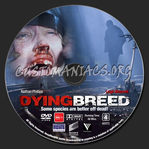 Dying Breed dvd label