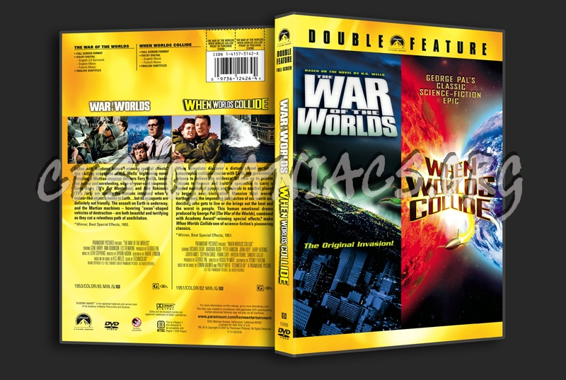 War of the Worlds / When Worlds Collide dvd cover