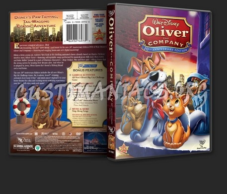 Oliver And Company 20th Anniversary Edition dvd cover