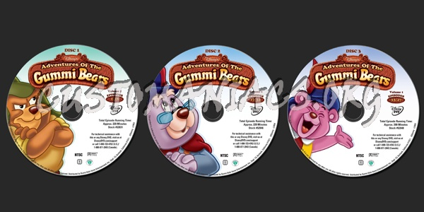 Adventures Of The Gummi Bears Volume 1 dvd label