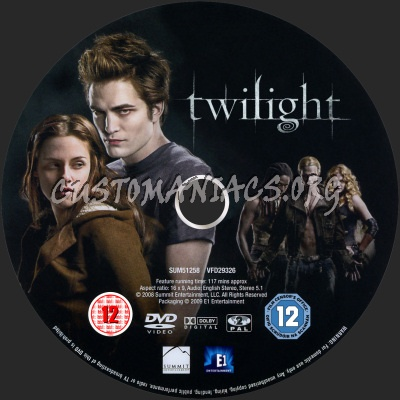 Twilight dvd label