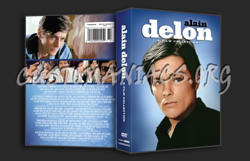 Alain Delon 5 Film Collection dvd cover