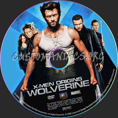 X-Men Origins: Wolverine dvd label
