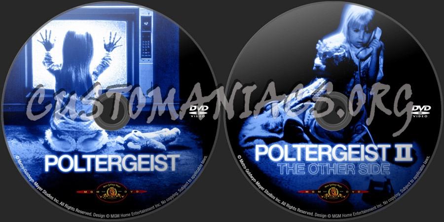 Poltergeist 1&2 dvd label