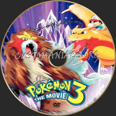 Pokemon 3 dvd label