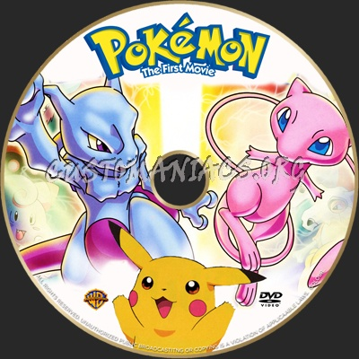 Pokemon The First Movie Dvd Label Dvd Covers Labels By