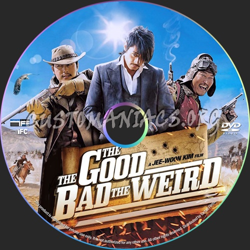 The Good The Bad And The Weird dvd label