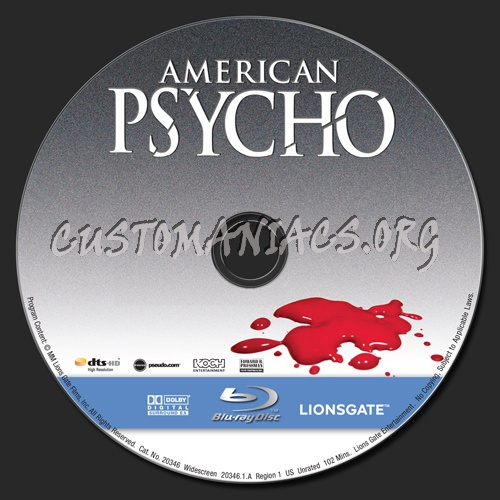 American Psycho blu-ray label
