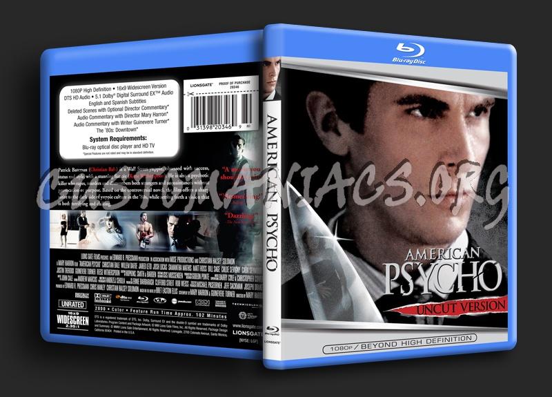American Psycho blu-ray cover
